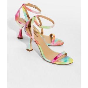 Martini Me rainbow flared heels